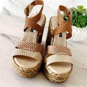 Stuart Weitzman   Elsie Espadrille Wedge Sandals